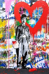 Chaplin by Mr. Brainwash - Original on Canvas sized 24x36 inches. Available from Whitewall Galleries